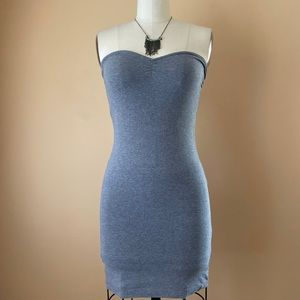 Gray Strapless Dress